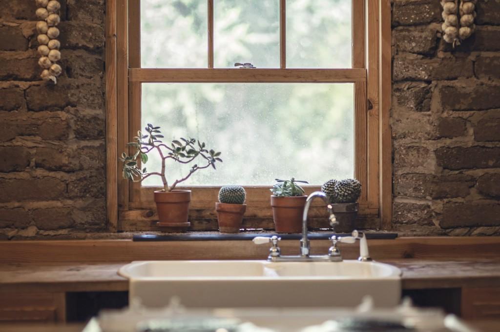 Fenster aus Holz - rustikal